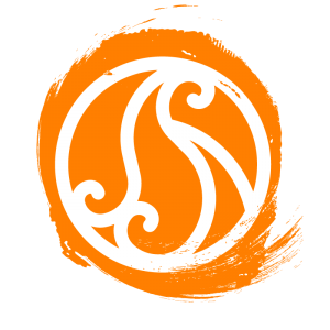 Círculo laranja que está representando o elemento fogo