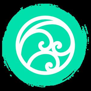 Círculo azul claro que está representando o elemento ar
