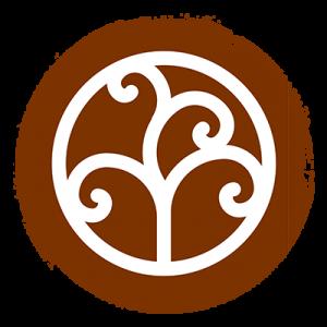 Círculo marrom que está representando o elemento ar